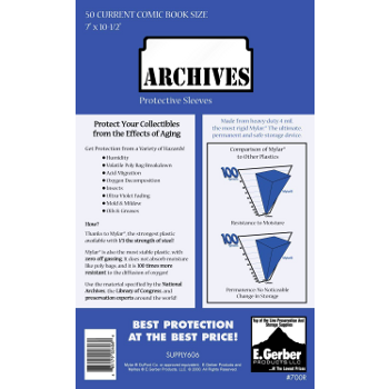 Archives Protective Sleeve : Standard Comic Book Size