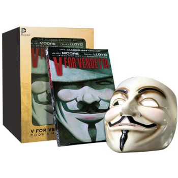 V for Vendetta Graphic Novel & Mask Set