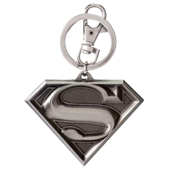 Keyring : Superman symbol (pewter)