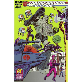 Transformers VS GI Joe #1 Comic-Con variant