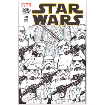 Star Wars #1 - Andrew Cramer Original Art Cover