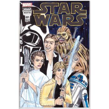 Star Wars #1 - Gina Viglietti Original Art Cover