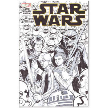 Star Wars #1 - Kay Carmichael Original Art Cover