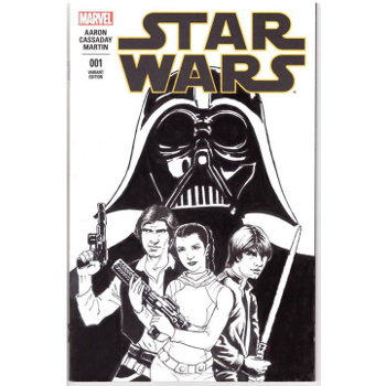 Star Wars #1 - Moray Rhoda Original Art Cover