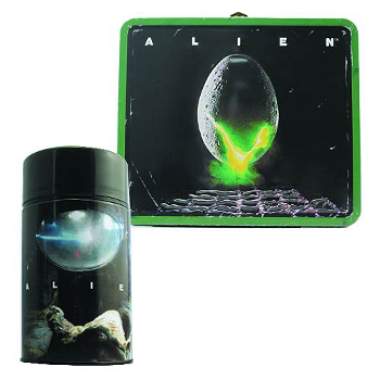 Lunch Box & Thermos Flask Set : Alien Egg Distressed