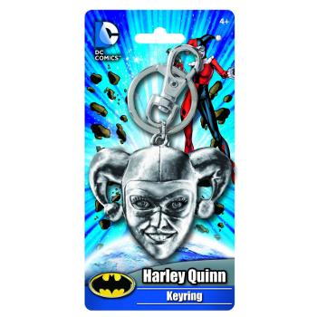 Keyring : Harley Quinn Head (pewter)