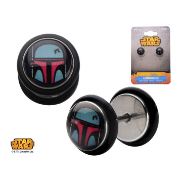 Star Wars Boba Fett Faux Plug Earrings