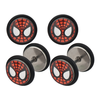 Spider-Man Symbol Faux Plug Earrings