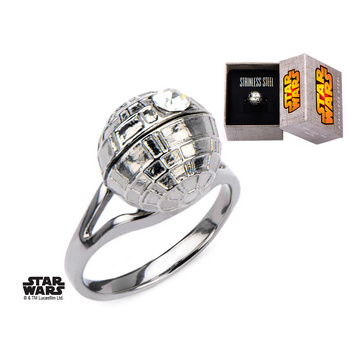 Star Wars Death Star Ring with Gem (size 7)