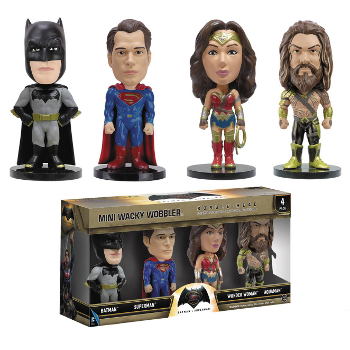 Batman V Superman : Mini Wobbler 4-pack set