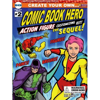 Create Your Own Comic Book Hero Action Figure Kit