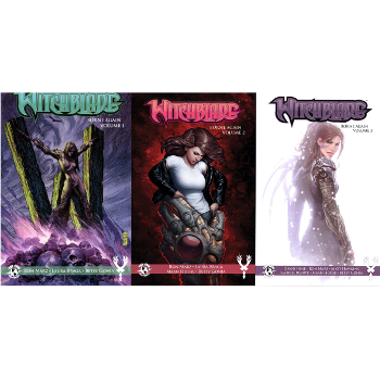 FC17 Witchblade Borne Again Set Vol. 01-03 TPs -Signed