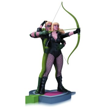 DC Designer Cliff Chiang Green Arrow & Black Canary statue