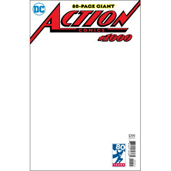 Action Comics #1000 – Blank Variant Cover