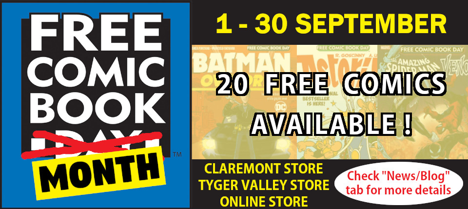 Free Comic Book Day Month 1-30 September
