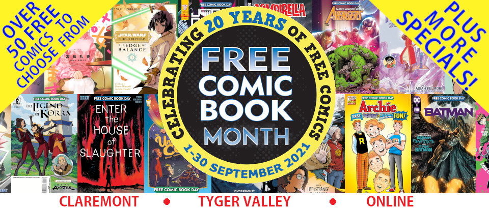 Free Comic Book Day Month 1-30 September 2021